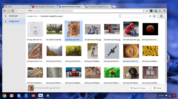 Google Drive has come to Chrome OS, the browser-based operating system that arguably needs it more than the average PC.