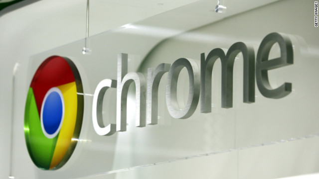 he Google Chrome logo is displayed at a store in London on Wednesday, Dec. 7, 2011.