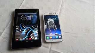 Comparación Galaxy Note 10.1 versus Nexus 7