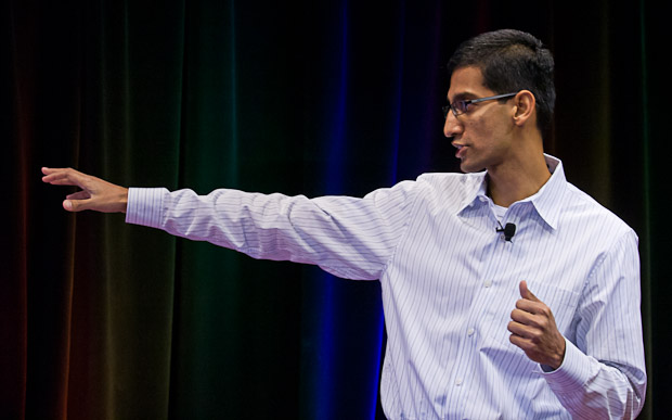 Sundar Pichai, leader of the Chrome effort, when Google unveiled the first beta of its browser on September 2, 2008.