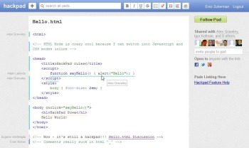 Hackpad syntax highlighting screenshot
