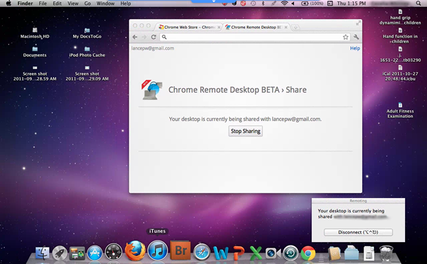 Chrome Remote Desktop is a handy way to control a Mac from your PC.