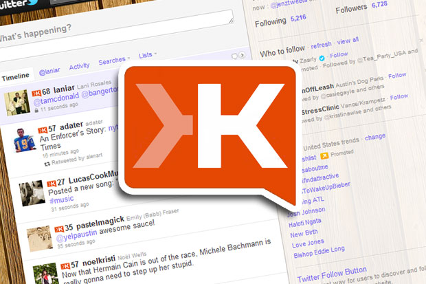 klout twitter Three Google Chrome extensions for those obsessed with Klout scores