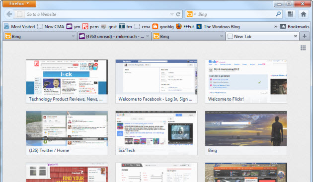 Firefox New Tab Page