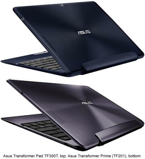 Asus Transformer Pad TF300T vs. Transformer Prime TF201