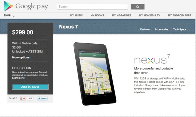 nexus 7 in stock