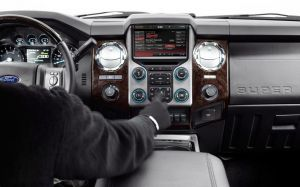 Ford Super Duty Platinum dash
