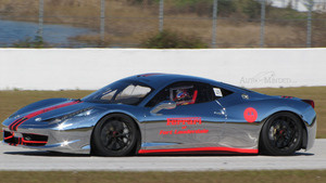 Yes, That Is A Chrome Ferrari On A Racetrack