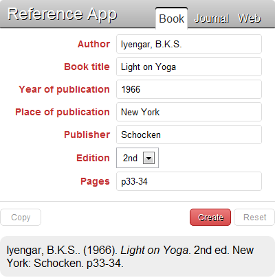 Step 2: Create book reference.