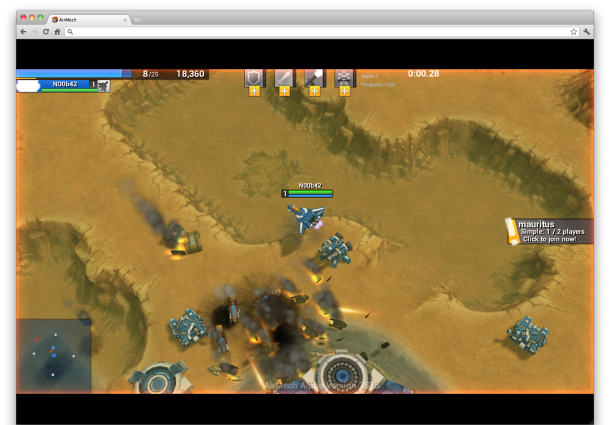 AirMech from Carbon Games is a real-time strategy game with transforming mech suits.