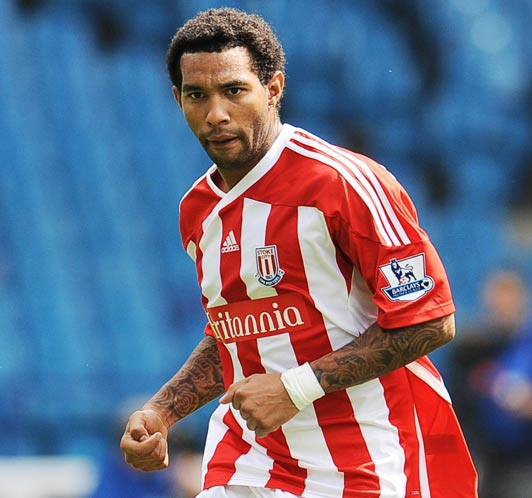 On the pitch ... Jermaine Pennant