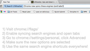 Chrome Now Syncs Search Engines and Open Tabs