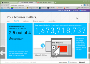According to Microsoft, Chrome on Linux only gets a 2.5 for security!