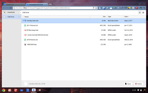 Chrome OS File Manager