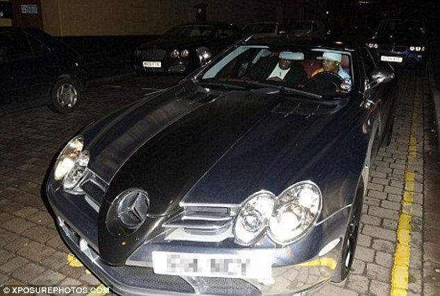 Pimp my ride: Doncaster Rovers footballer El Hadji Diouf chromed his £420,000 chrome Mercedes-Benz SLR McLaren