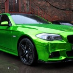 Oh My: Russian Tuning House Makes Green Chrome BMW 5 Series image