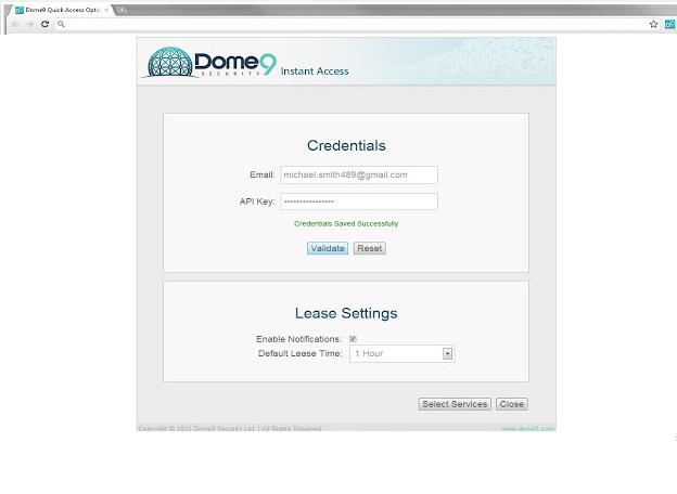 Dome9 has launched its Instant Access app for Chrome browsers