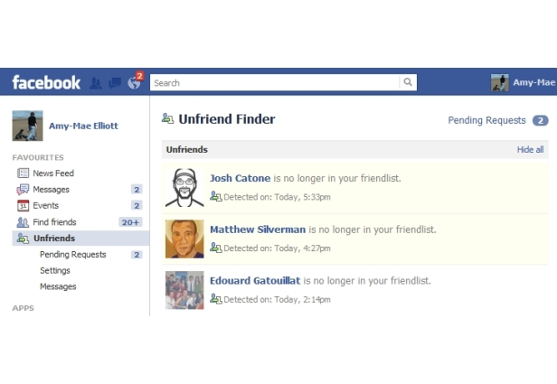 how to tell if you were unfriended on facebook