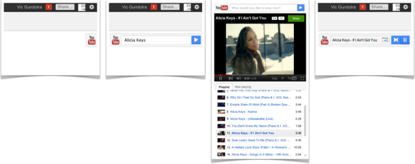 YouTube slider in Google+
