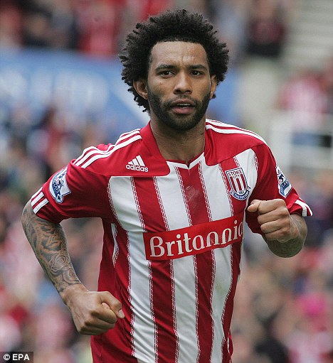 Get your motor running: Jermaine in action for Premiership club Stoke City