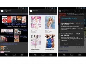 magazine screenshots 300x225 Google Play Magazines hit the UK, just in time for Christmas
