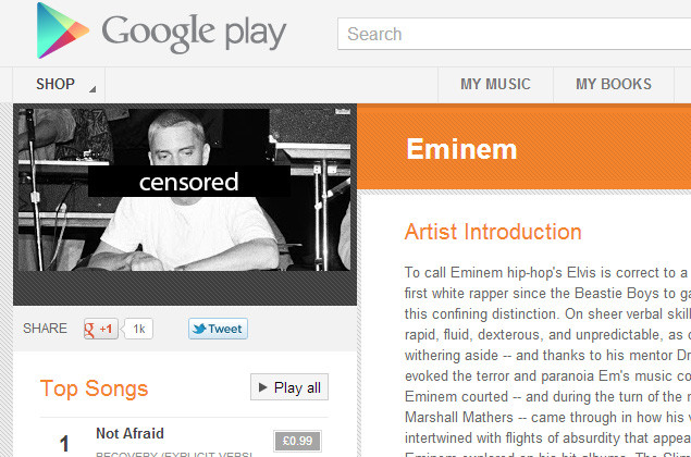 Google Play Music censors your uploaded songs . Google, google music, Google Play 0
