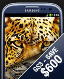 Save up to $600 on Galaxy S3