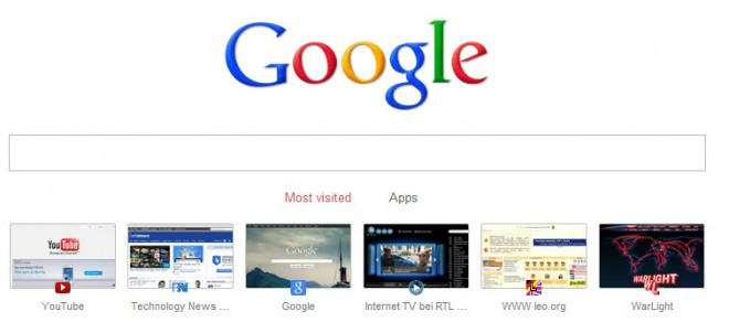 google chrome new tab google search