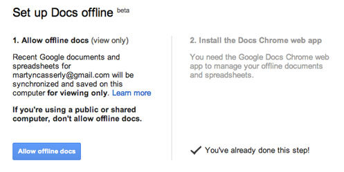 Set up offline docs