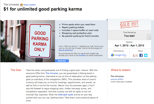 google-offer-karma