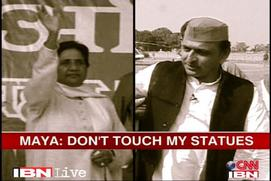 Don't alter Dalit memorials, my statues, Maya tells Akhilesh