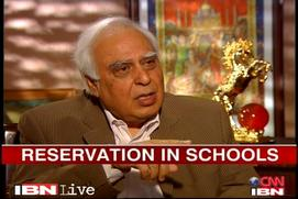 No extra burden on parents: Sibal on school quota