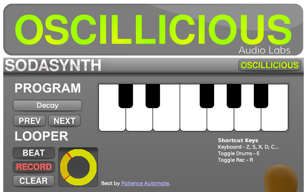 Sodasynth, a music-looping app, is built using Googles Native Client and available through the Chrome Web Store.