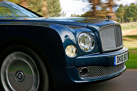 Glasslike, oxidation-resistant materials like that developed by an M.I.T. cement scientist could replace chrome and stainless steel in luxury-vehicle accent applications. Above, brightwork on the Bentley Mulsanne.